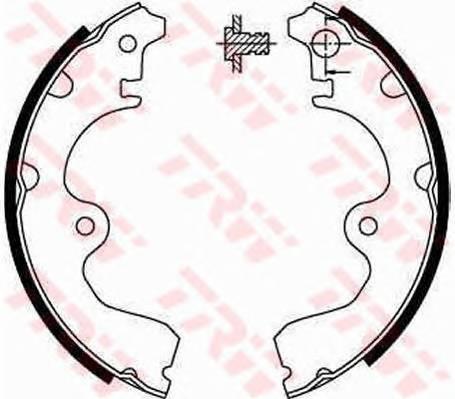 Тормозные колодки Тормозные колодки барабанные ABE арт. GS8554