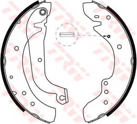 Тормозные колодки Тормозные колодки барабанные ABE арт. GS8565