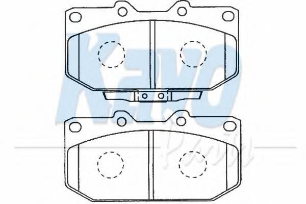 Тормозные колодки Тормозные колодки дисковые передние PAGID арт. BP8016