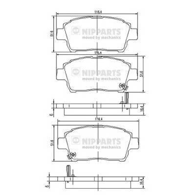Тормозная система Гальмiвнi колодки, к-кт. PAGID арт. J3602088