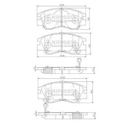 Тормозная система Гальмiвнi колодки, к-кт. PAGID арт. J3605027