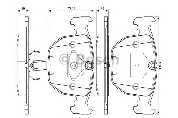 Тормозные колодки Тормозные колодки Bosch ABE арт. 0986494028