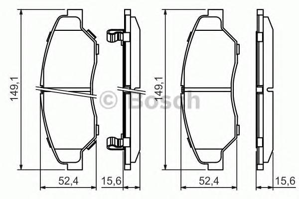 Тормозные колодки Тормозные колодки дисковые передние KIA Sportage 2.0 -04 PAGID арт. 0986424696