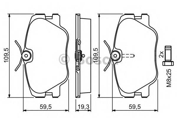 Тормозные колодки Тормозные колодки Bosch PAGID арт. 0986469410