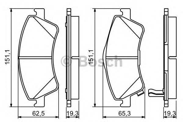 Тормозные колодки Тормозные колодки дисковые передние TOYOTA Avensis 08- ABE арт. 0986494187