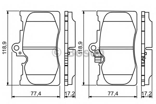 Тормозные колодки Тормозные колодки дисковые передние LEXUS GS 350, 430, 460, IS 350, LS460 06- ABE арт. 0986494252