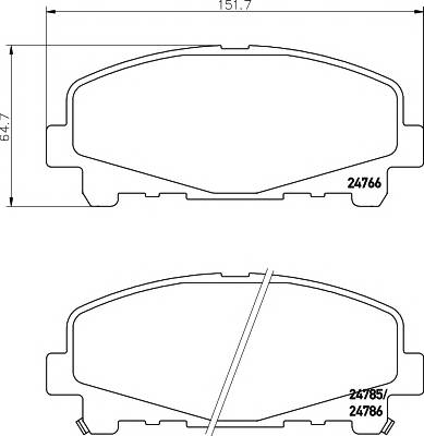 Тормозные колодки Тормозные колодки дисковые TEXTAR ABE арт. 2476601