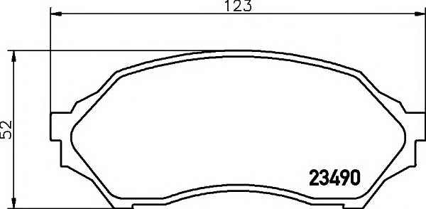 Тормозные колодки Тормозные колодки дисковые ABE арт. 2349002