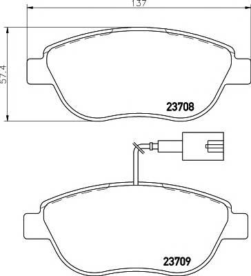 Тормозные колодки Тормозные колодки дисковые TEXTAR ABE арт. 2370802