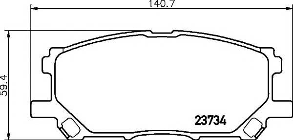 Тормозные колодки Тормозные колодки дисковые TEXTAR PAGID арт. 2373401