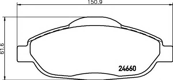 Тормозные колодки Тормозные колодки дисковые Textar ABE арт. 2466001