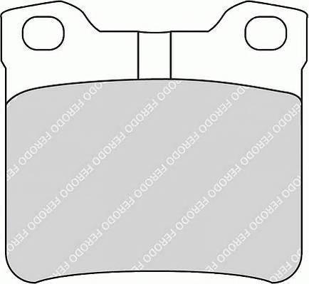 Гальмівні колодки, дискові PAGID арт. FDB1415
