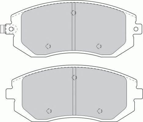 Гальмівні колодки, дискові PAGID арт. FDB1639
