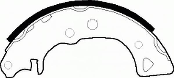 Тормозные колодки Тормозные колодки барабанные Ferodo ABE арт. FSB232