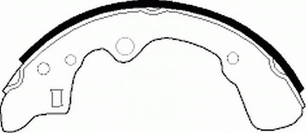 Тормозные колодки Тормозные колодки барабанные Ferodo PAGID арт. FSB276