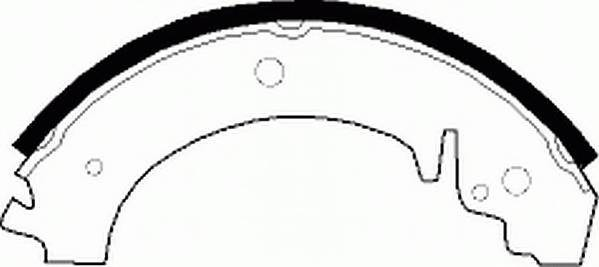 Тормозные колодки Тормозные колодки барабанные задние Lada 2101-2107 Ferodo PAGID арт. FSB59