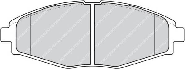 Тормозные колодки Тормозные колодки дисковые FERODO арт. FDB1337