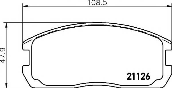 Тормозные колодки 21126/15,0мм Тормозные колодки PAGID PAGID арт. T0355