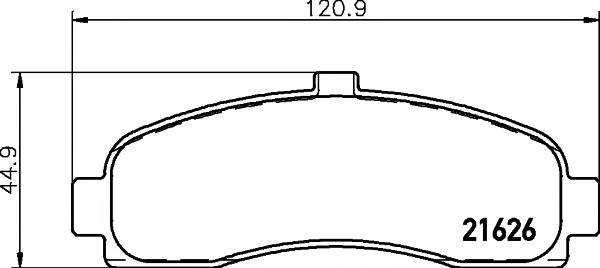 Тормозные колодки 21626/15,2мм Тормозные колодки PAGID PAGID арт. T3022