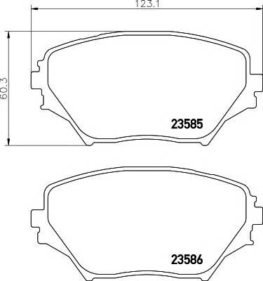 Тормозные колодки 23585/17,0мм Тормозные колодки PAGID PAGID арт. T1281