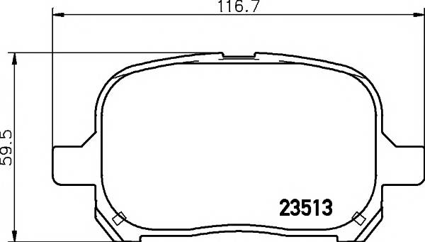 Тормозные колодки 23513/17,0мм Тормозные колодки PAGID ABE арт. T1239