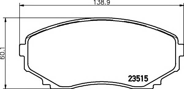 Тормозные колодки 23515/16,0мм Тормозные колодки PAGID PAGID арт. T1271
