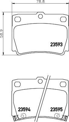 Тормозные колодки 23593/15,0мм Тормозные колодки PAGID PAGID арт. T1254
