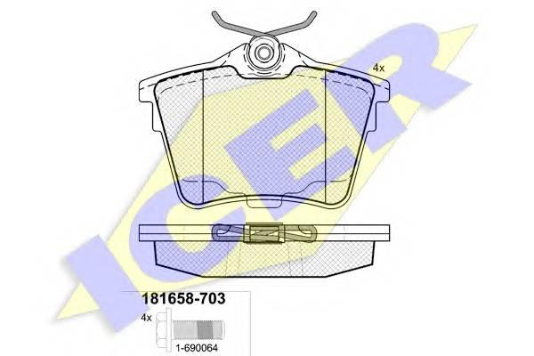 Тормозные колодки Тормозные колодки дисковые PAGID арт. 181658703