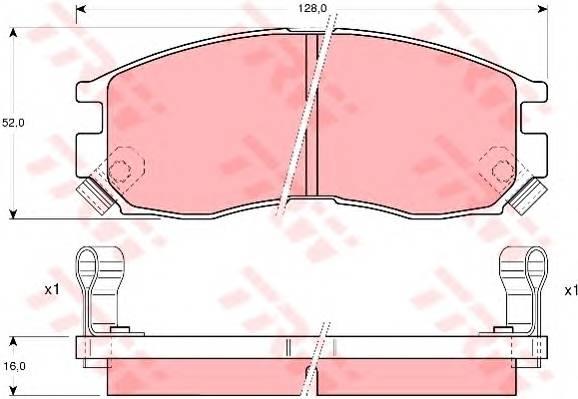 Тормозные колодки Тормозные колодки дисковые ABE арт. GDB1128