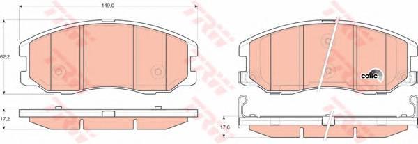 Тормозные колодки Тормозные колодки дисковые ABE арт. GDB1715