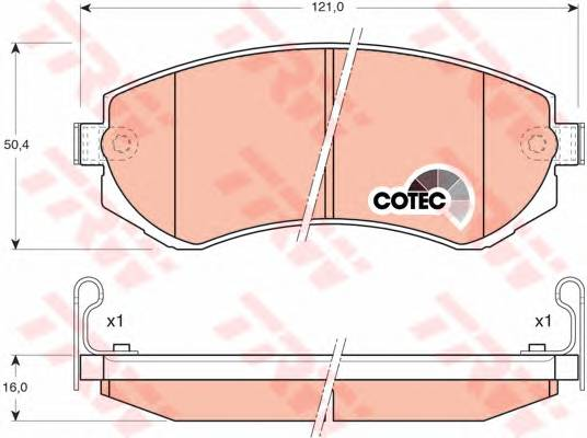 Тормозные колодки Тормозные колодки дисковые PAGID арт. GDB3208