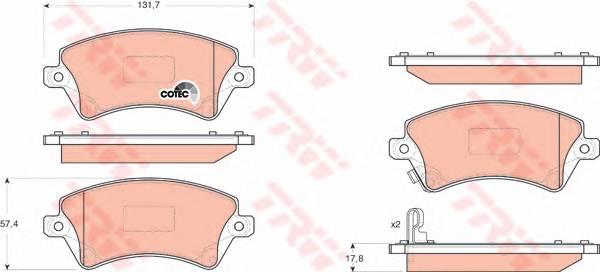 Тормозные колодки Тормозные колодки дисковые PAGID арт. GDB3288