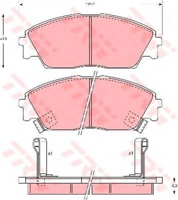 Тормозные колодки Тормозные колодки дисковые PAGID арт. GDB763