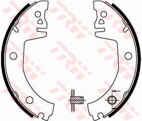Тормозные колодки Тормозные колодки барабанные ABE арт. GS8300
