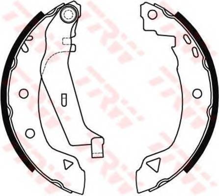 Тормозные колодки Тормозные колодки барабанные PAGID арт. GS8538