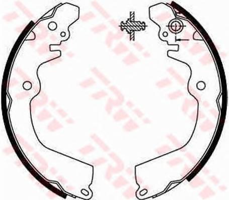 Тормозные колодки Тормозные колодки барабанные ABE арт. GS8666