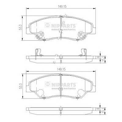 Тормозная система Гальмiвнi колодки, к-кт. PAGID арт. J3600309