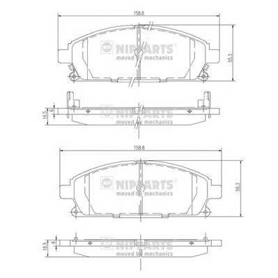 Тормозная система Гальмiвнi колодки, к-кт. PAGID арт. J3601071