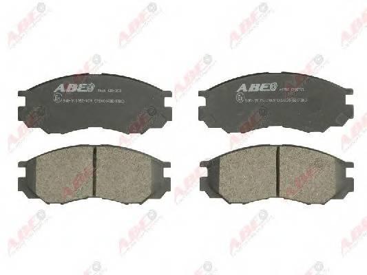 Гальмівні колодки, дискові ABE арт. C15000ABE