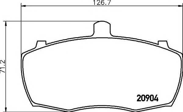 Тормозные колодки Тормозные колодки дисковые ABE арт. 2090401
