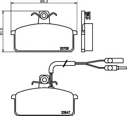 Тормозные колодки Тормозные колодки дисковые PAGID арт. 2070804