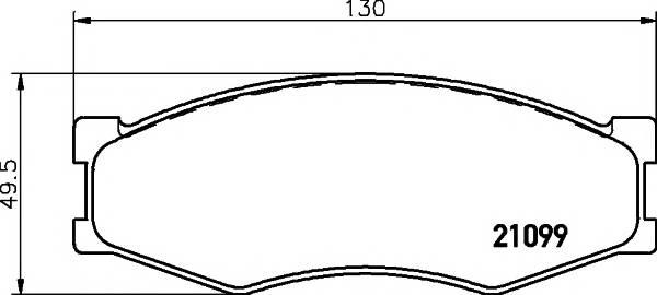 Тормозные колодки Тормозные колодки дисковые ABE арт. 2109901