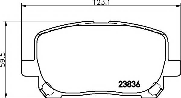Тормозные колодки Тормозные колодки дисковые TEXTAR ABE арт. 2383601
