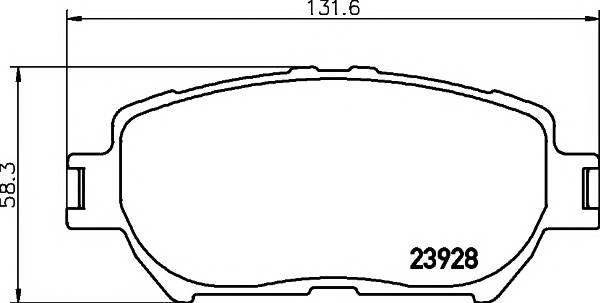 Тормозные колодки Тормозные колодки дисковые TEXTAR ABE арт. 2392801