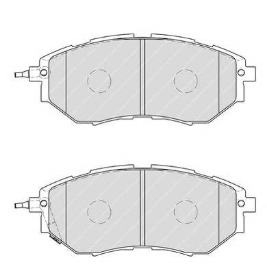 Тормозные колодки Тормозные колодки Ferodo PAGID арт. FDB1984