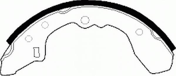 Тормозные колодки Тормозные колодки барабанные Ferodo ABE арт. FSB238