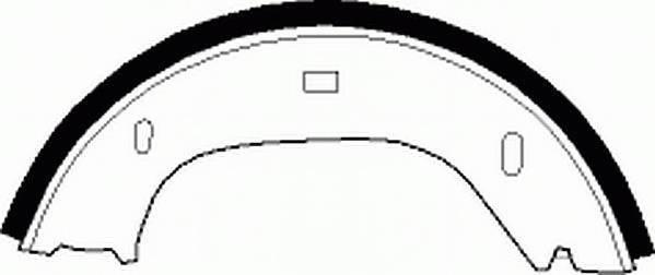 Тормозные колодки Тормозные колодки барабанные Ferodo PAGID арт. FSB92