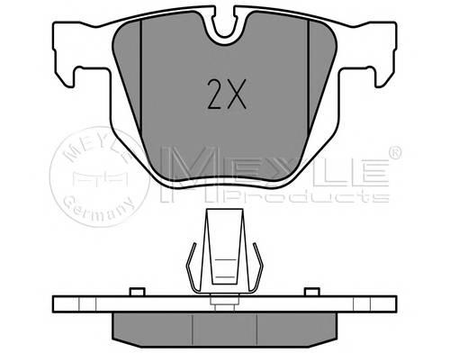 Тормозные колодки Тормозные колодки дисковые задние PAGID арт. 0252373217