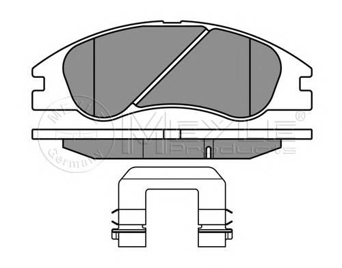 Тормозные колодки Тормозные колодки дисковые KIA Cerato 04/04- PAGID арт. 0252421817W
