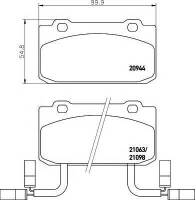 Тормозные колодки 20944/15,0мм Тормозные колодки PAGID PAGID арт. T4164